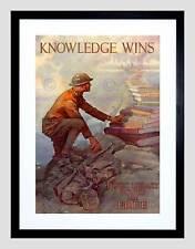 Guerra di propaganda Seconda Guerra Mondiale Stati Uniti la conoscenza LIBRI LIBRERIA FRAMED ART PRINT MOUNT b12x7181