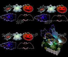 5X Halloween Light Up LED Picture Party Neon Home Window Garden Tree Scene Decor