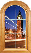 Sticker fenêtre vouté trompe l'oeil déco Londres réf 620