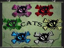 Aufnäher Aufbügler Patch Katzen Cats Rockabilly Kinder Cat