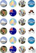 24 x PRECUT  AUSTRALIA DAY CELEBRATIONS/KOALA RICE/WAFER PAPER CUP CAKE TOPPERS