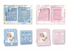 Baby Geschenk Set Bilderrahmen 10x15 Fotoalbum 100 Fotos Geburt Junge Mädchen