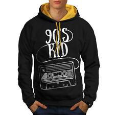 90's Kid Fashion Men Contrast Hoodie NEW | Wellcoda