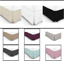 Plain Dyed Poly Cotton Luxury Platform Base Valance Box Pleated Sheet Bed
