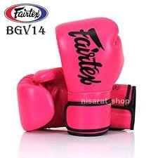 FAIRTEX BOXING GLOVES BGV14 PINK 8 10 12 14 16 1MMA FIGHTING MUAY THAI TRAINING
