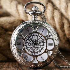 Fob Watch Black Butler Necklace Chain Steampunk Analog Quartz Pocket Watch Anime