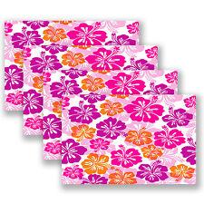 4 x A4 Sheet Hibiscus Hawaii Flower StickerBomb Sticker Bomb Car Bike iPad #4156