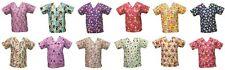 Nickelodeon Womens Nursing Medical Pediatric Character Scrubs Shirt Tops