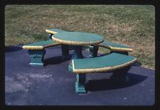 Photo Picnic table Glauca Morra mini golf Kirkland New York 1988 Margolies 54a