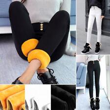 Femmes Legging Thermique Chaud Doux Hiver Collants Leggings Pantalon