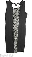 Women dress YUMMY PLUS polyester spandex black  dress sleeveless knee length