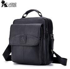 LUOSEN Men Genuine Leather Shoulder Messenger Bag Small Vintage Crossbody Bag