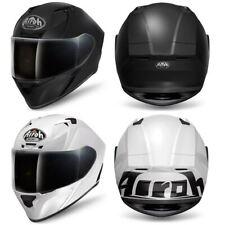 Airoh Valor Full Face Motorcycle Helmet Matt Black Gloss White Crash Lid ACU New