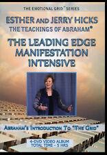 Abraham-Hicks Esther 4 DVDs The Leading Edge Manifestation Intensive - NEW