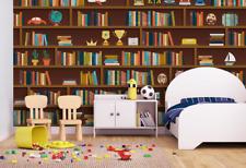 3D Bücherregal 068 Fototapeten Wandbild Fototapete BildTapete Familie DE