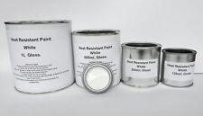 White Heat Resist Paint, Gloss Brake Caliper Engine Metal Body Steel