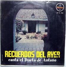 Canta el DUETO DE ANTANO Recuerdos Del Ayer Vol.3 LP Colombia SONOLUX Near-MINT