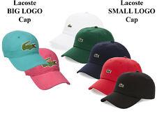 Mens Lacoste Cap Gabargine Adjustable Strap Baseball Cap Lacoste Hat NEW