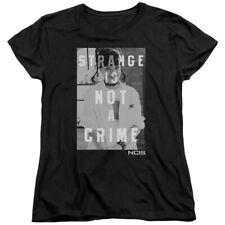 NCIS Crime Drama TV Series Abby Strange Is Not A Crime B&W Women's T-Shirt