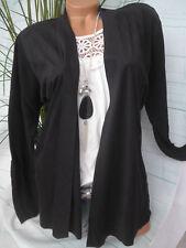 Sheego Cardigan Jacket Size 48/50 to 56/58 Black plus Size (976)