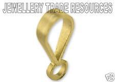 9 carati giallo oro pendente anello della catena cauzione
