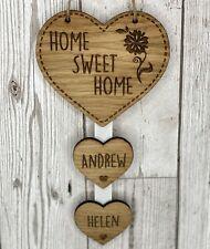 A Casa è dov/'è il cuore-SWEET HOME-PORTACHIAVI-personalizzata CASA in legno-rosso