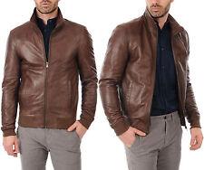DE Herren Lederjacke Biker Men's Leather Jacket Coat Homme Veste En cuir R83c