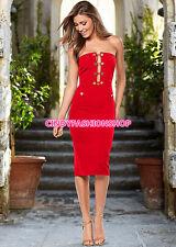 Hot  Fashion Women Sexy  Celebrity Bodycon Button Khloe Strapless   Party Dress