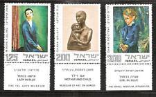 ISRAEL # 537-539 MNH ART WORKS FROM TEL AVIV, EN HAROD & JERUSALEM MUSEUMS.