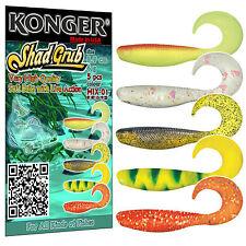 Fishing Soft Lures 9cm 3.5''  Pike Perch Bait SHAD GRUB Jig Heads Ripper Twister