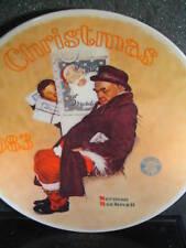 Norman Rockwell 1983 Santa In The Subway Ltd Ed Plate Mib
