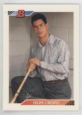 1992 Bowman #77 Felipe Crespo Toronto Blue Jays RC Rookie Baseball Card