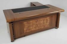 Senato Large Executive Office Desk 3 Piece Set Oak 1.6m 1.8m 2.0m 2.4m or 2.6m