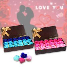 18 Pcs Set Rose Flower Soap Petal Bath Romantic Mother's Day Gift Box UK