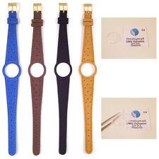 Bracelet montre femme bande pour omega dynamic remplacement en cuir boucle dorée S16