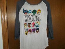 Marvel Faces Juniors NWT Long sleeve T-Shirt sz Large Juniors