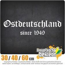 Ostdeutschland chf0057  in 3 Größen JDM  Heckscheibe Aufkleber