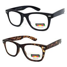 Reading Glasses No Line Progressive Clear Lens Retro Square Frame New Bifocal