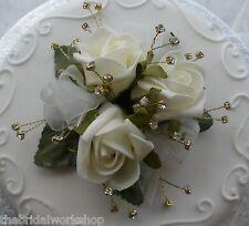 Wedding Triple Rose Cake Topper & Diamante All Colours Bridal Party Reception