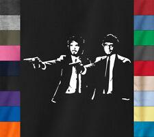 FLIGHT OF THE FICTION T-Shirt Conchords Eddie Richie Pulp Fiction Ring Spun Tee