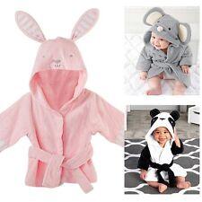 Toddler Kids Baby Boys Girls Cartoon Night Bath Robe Sleepwear Homewear Pajamas