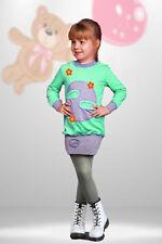 Mädchen Tunika Kleid Pullover Pulli Longshirt Langarm warm Gr. 110-134
