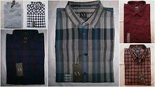 NWT A|X ARMANI EXCHANGE Classic Plaids Shirt Mens Muscle Slim Fit Size XL & XXL