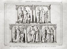Sarkophag Bas-Relief Frankreich 1833 Sarcophage France
