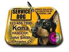 Service Dog pet PHOTO ID tag custom badge-tag yellow ADA personalized ada tag