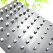 Ohrstecker Kugeln Edelstahl Herren Damen Ohrringe Perle Perlen silber-farbig