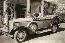 President Franklin Delano Roosevelt in his 1931 Plymouth, Chrysler Car  Postcard