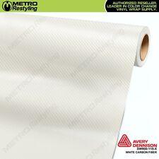 Avery Supreme WHITE CARBON FIBER Vinyl Vehicle Car Wrap Sheet Roll SW900-115-X