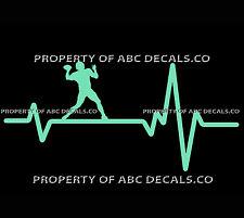 VRS Heart Beat Line FOOTBALL QUARTERBACK Throw on the Run Ball CAR VINYL DECAL