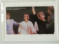 handmade greetings / birthday card LIVE AID bowie mccartney geldof etc cutting